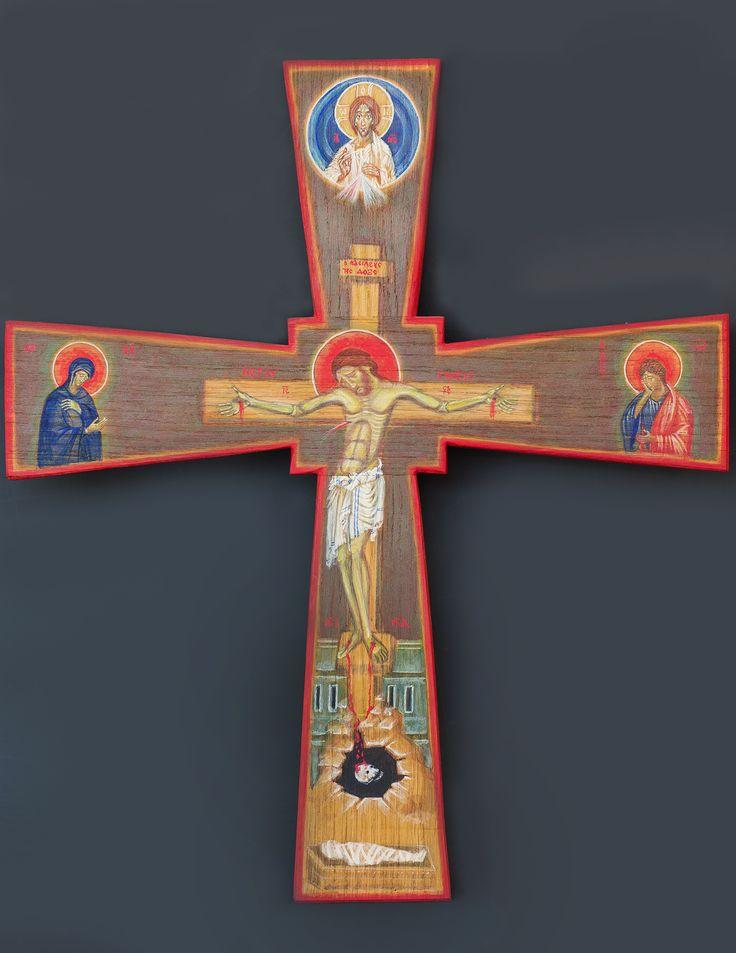 tomasz biłka op, IKONA KRZYŻA, tempera na desce dębowej, 60 x 52 cm, 2011, dla Agnieszki Kaczmarek, fot. Krzysztof Nowak