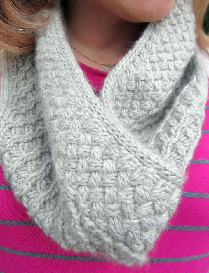Knitting Pattern for Donovan Cowl - The designer says that this easy cabled cowl is a 4 row repeat.