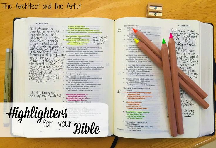 Great highlighters for your Bible that won't bleed through.