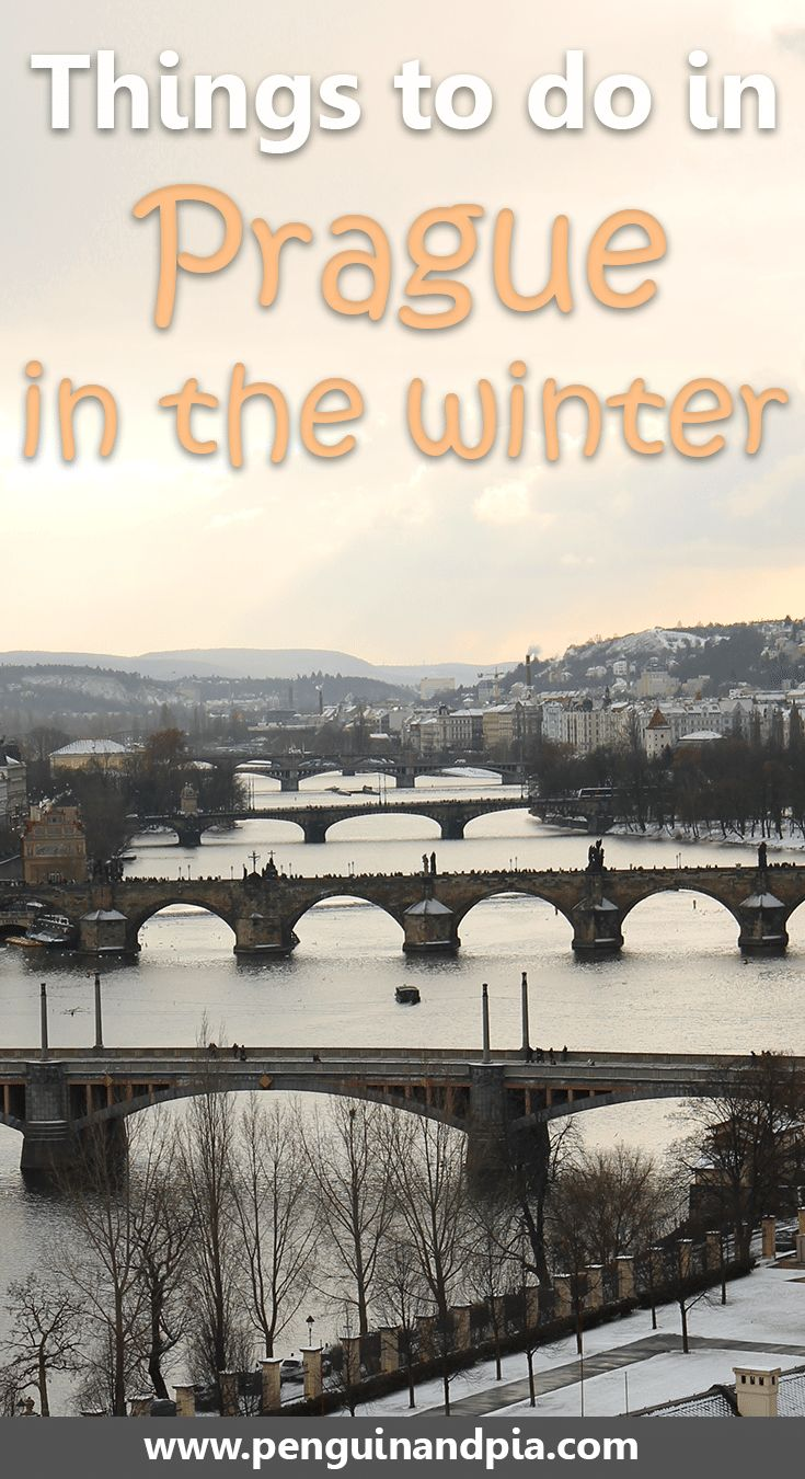 There are tons of things to do in Prague in the winter. From the Charles Bridge to the four bridges, and the beautiful old town square with the astronomical clock - here are the things you should not miss during your trip to the Czech capital. #traveltips #prague #wintertravel #europe #thingstodoinprague