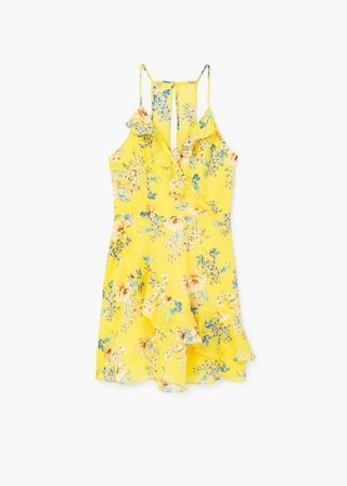 Floral ruffled dress - Women | MANGO USA