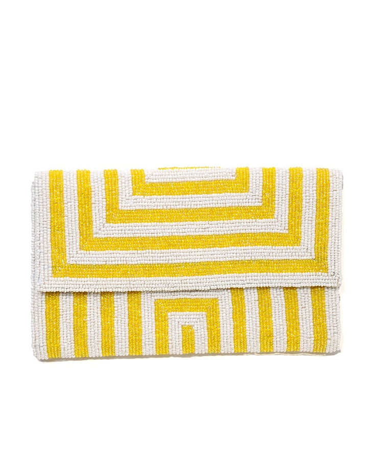 Colorblock beaded clutch - South Moon Under, just $45!