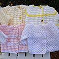 A la demande de Sophie je viens mettre les explications de cette brassière au crochet pour prémas Monter 64 m et tricoter 32 coquilles au...