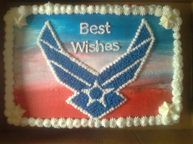 15 best images about air force going away party on for Air force cakes decoration