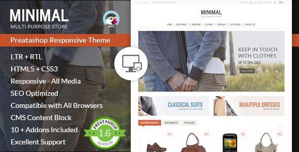 nice Minimal Multi Purpose - Prestashop Theme Check more at https://www.freethemeslib.com/minimal-multi-purpose-prestashop-theme/