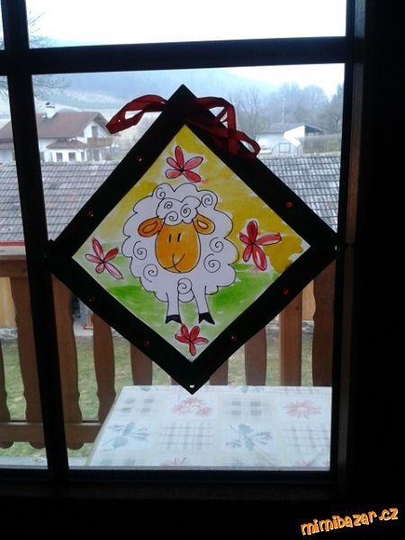 jarní vitrážka obrázek do oken