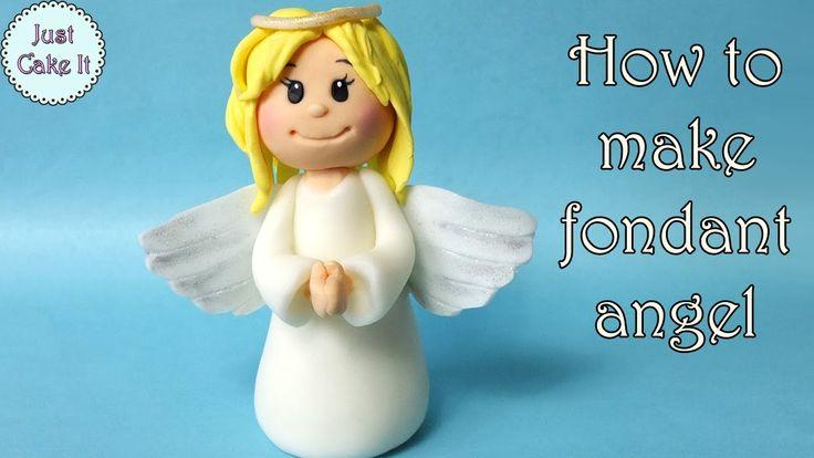 How to make fondant angel / Jak zrobić aniołka z masy cukrowej