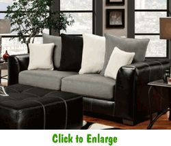 Idol Steel Sofa By Affordable At Furniture Warehouse