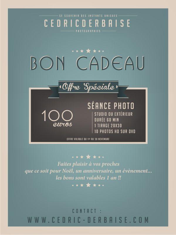 Promo-bon-cadeau Promotion séance photo Cedric Derbaise Photographies
