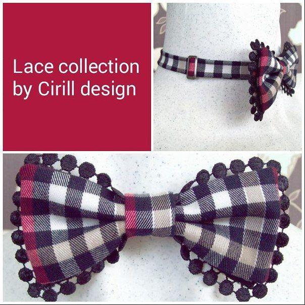 Женский галстук бабочка с кружевами из коллекции Cyrille Kozlov Design Lace Collection