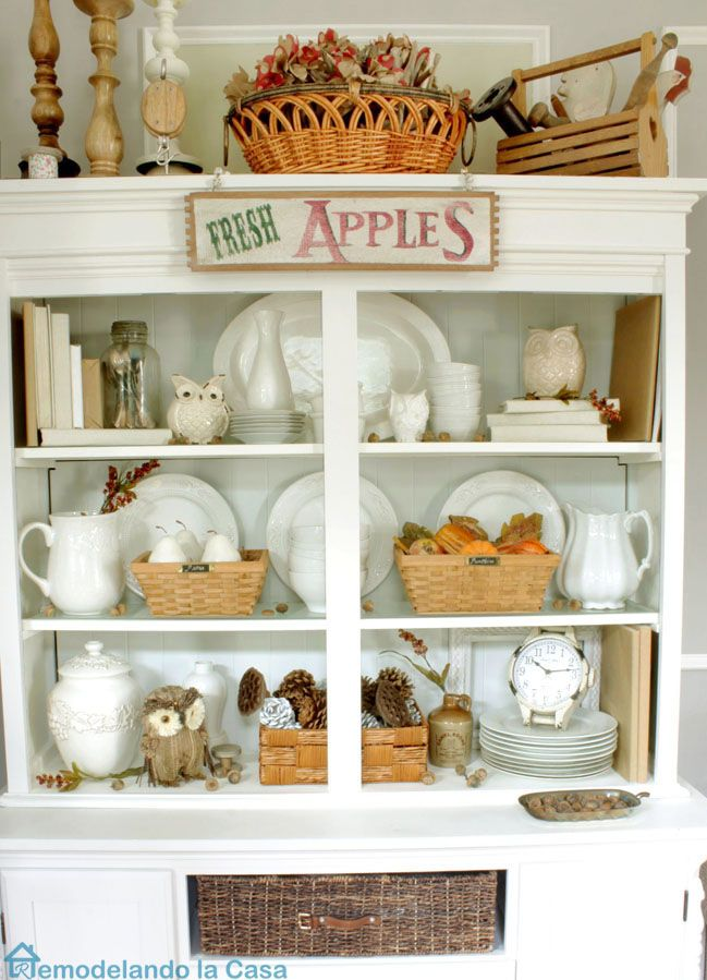 Fall Hutch IdeasFall ProjectsFall DecoratingCupboardKitchen DiningDining RoomMilk
