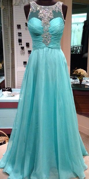 Pd61105 Charming Prom Dress,Chiffon Prom Dress,Beading Prom Dress,A-Line Evening Dress