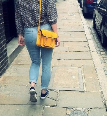 """#CSCSpotted The Classic 11"""" in Yellow - great for summer in the city!"""