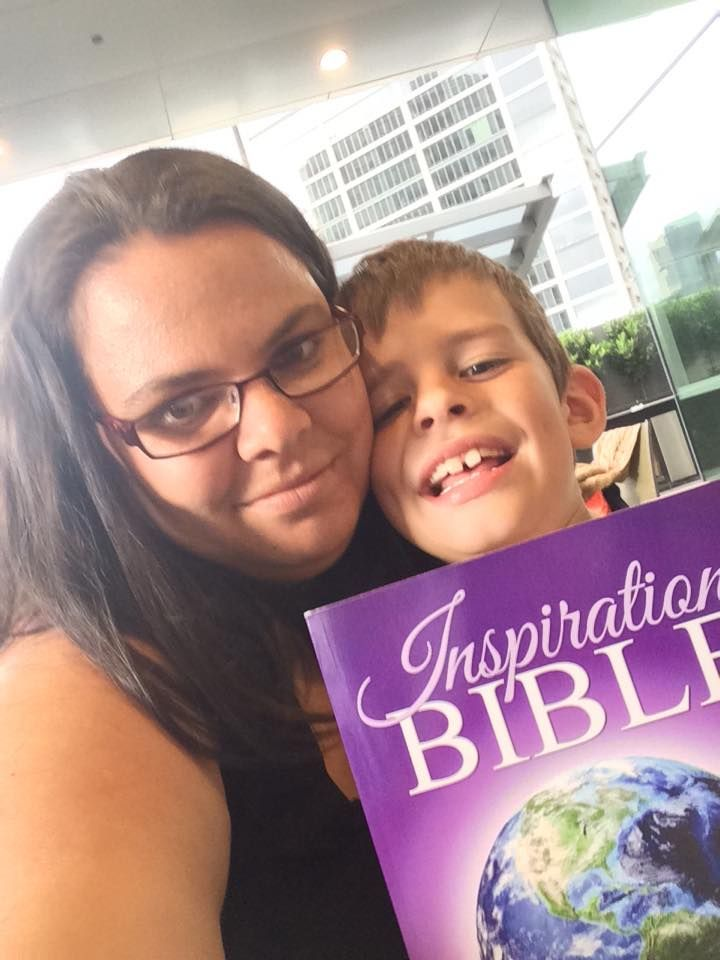 Rhi Butler - Project Manager at Gowor International Publishing and her son Sebastian Butler - both contributors of the Inspiration Bible!