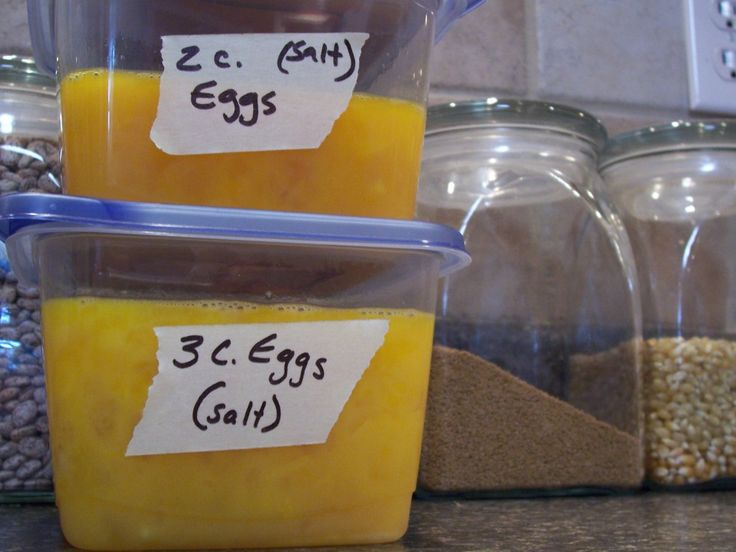How to freeze eggs - useful if you have backyard chickens!