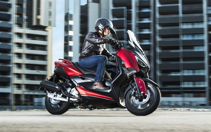 Download wallpapers Yamaha X-MAX 125, 2018, 4?, ????????, new motorcycles, scooter, Yamaha