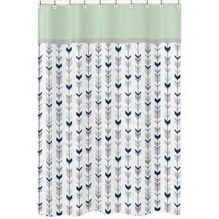Shop For Grey And Mint Mod Arrow Shower Curtain Free Shipping On Orders Over 45