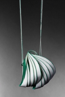 I am so in awe of these beautiful shapes... paper jewelry by lydia hirte