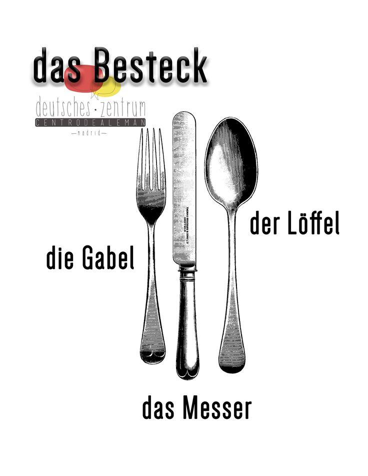 Besteck Deutsch Alemán Wortschatz Vocabulario DAF