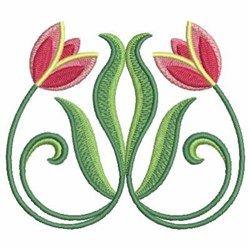 Art Nouveau Tulips embroidery design