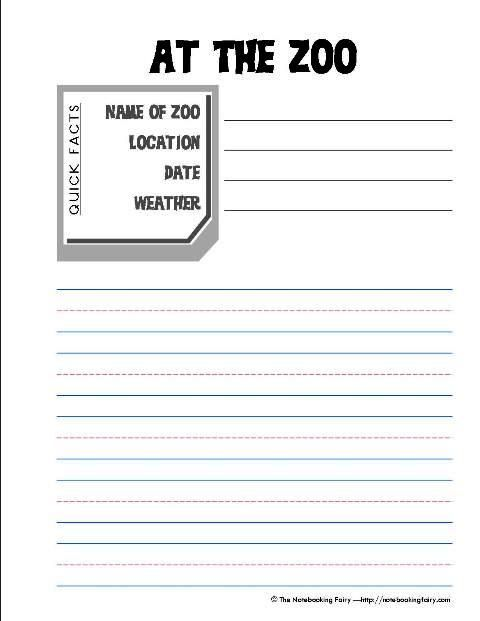 8 best Field trip to the zoo images on Pinterest Crafts for kids - trip report template