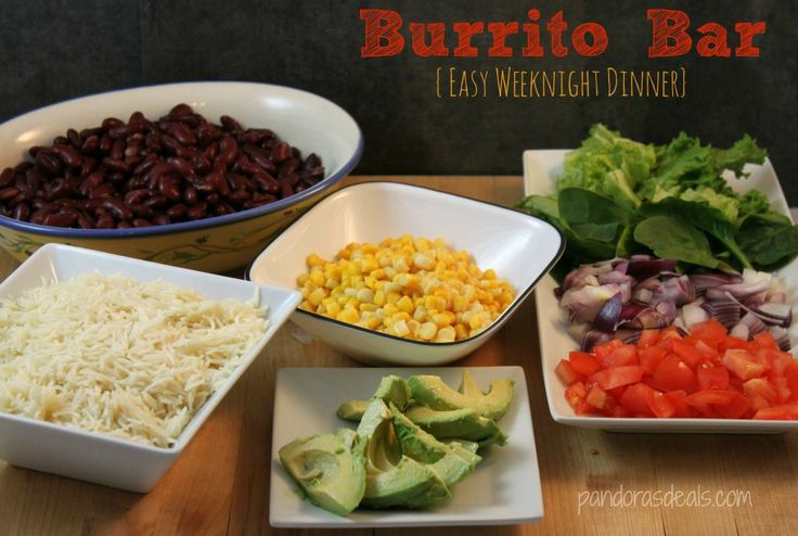 Easy Weeknight Dinner Burrito Bar. This is on my menu every week. Healthy and fast, I can have it on the table in 15 minutes (or less!).