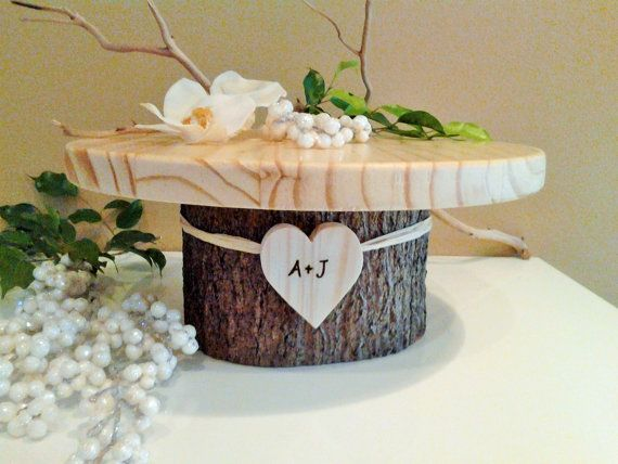 16 Rustic wedding cake stand  Personalized by ArtisticByNature1