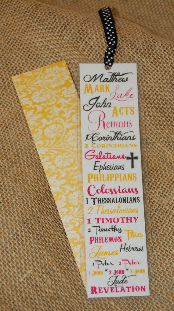 Scripture Bookmark  Books of the Bible  New by Paper Doll Printing, $4.00