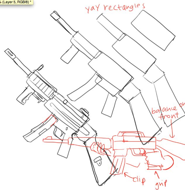 How to draw guns by kelpls tumblr com