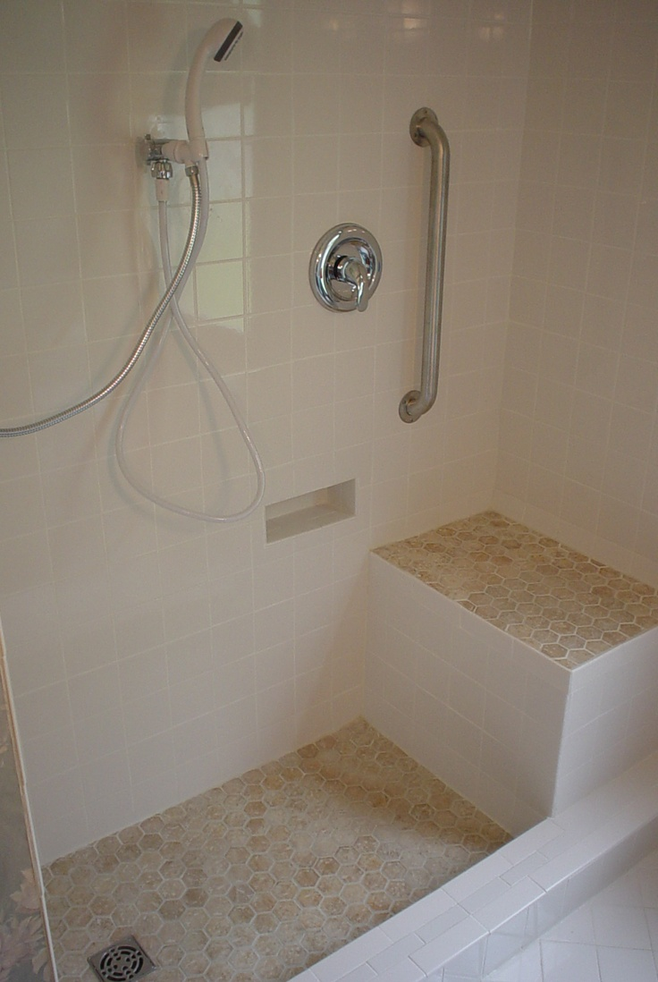 This Shower Was Custom Designed For Client The Seat Was