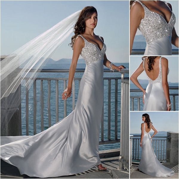 silver wedding dresses for older brides | ... /2011/09/Maggie-Sottero-2011-Sexy-V-neck-Beach-Wedding-Dresses-1a.jpg