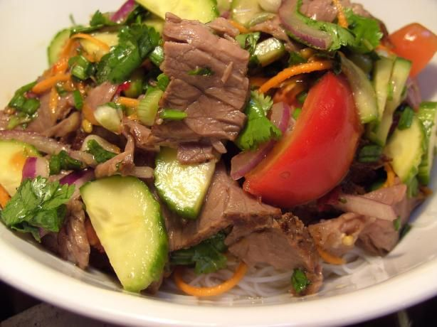- Thai Beef Salad from Food.com: A quick, easy and very tasty Thai ...