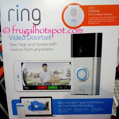 Ring Video Doorbell & Wireless Chime. #Costco #FrugalHotspot