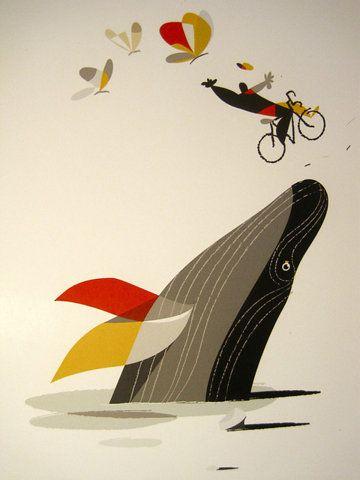 ...Killers Whales, Riccardo Guasco, Bicycles, Digital Illustration, Graphics Prints, Colors, Art, Graphics Design, Posters