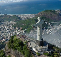Rio de Janeiro under the protective gaze of the Christ the Redeemer statue.