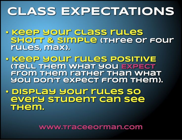 Class rules: Keep them short & simple; keep them positive; display them for all to see. More about class expectations and rules in the blog post. Plus a freebie!