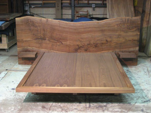 Ian Ingersoll Claro Walnut Live Edge Bed - 49 Best Live Edge Wood Furniture Images On Pinterest