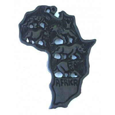 Wooden Carved African Map....