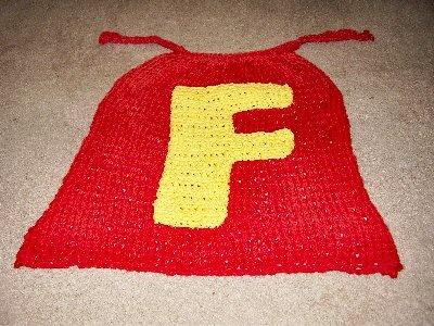 Knit superhero cape
