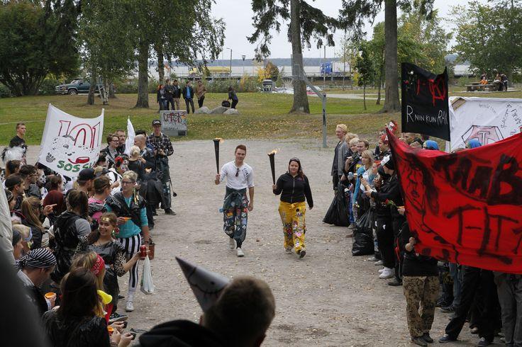 The annual Olutpialaiset-event begins. Photographer: Markku Kuusinen