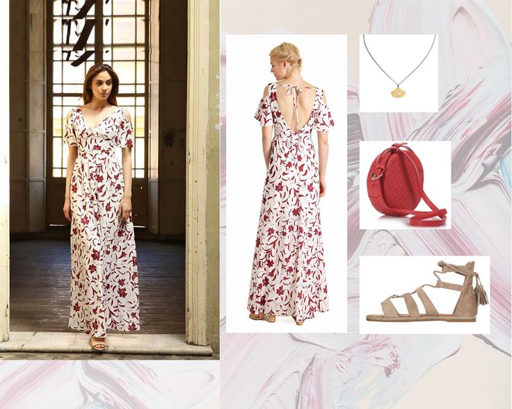 The perfect #dress for the #floral lovers! Extra points: It is #maxi and it is #gorgeous φόρεμα: http://mikk.ro/WYT  σανδάλια: http://mikk.ro/WYU τσαντάκι: http://mikk.ro/WYZ   κολιέ: http://mikk.ro/WYX