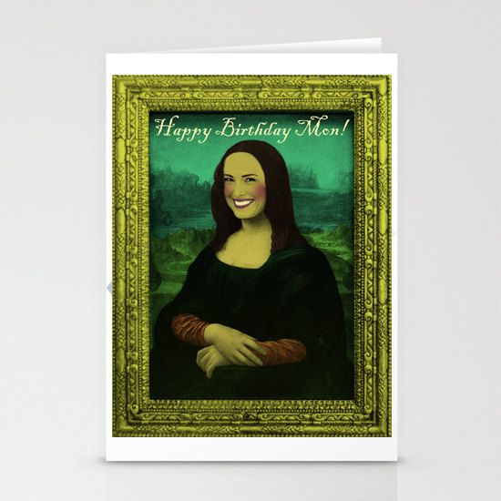 Funny Birthday Card, Custom Order, Mona Lisa funny collage #mona #lisa #birthday #card #gift #funny #collage #original