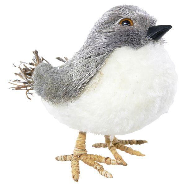 Pájaro artificial decorativo para navidad