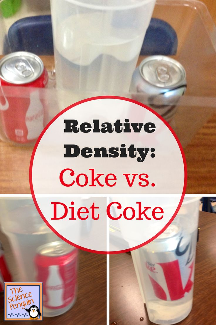 Relative Density: Coke vs. Diet Coke