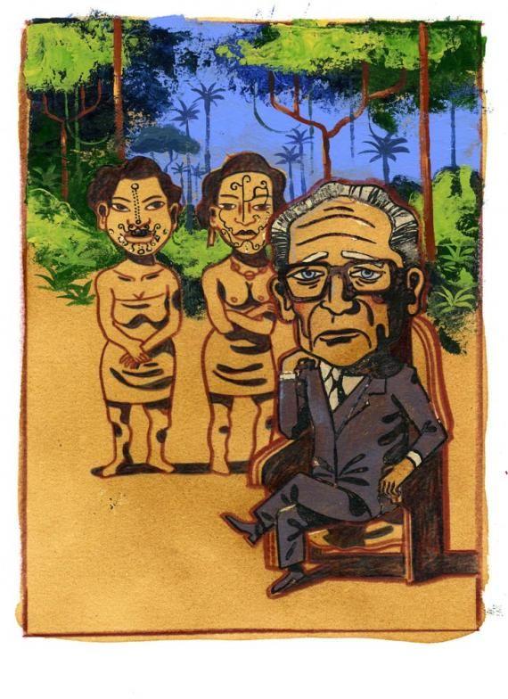 """Résultat de recherche d'images pour """"levi strauss tristes tropiques cartoon"""""""