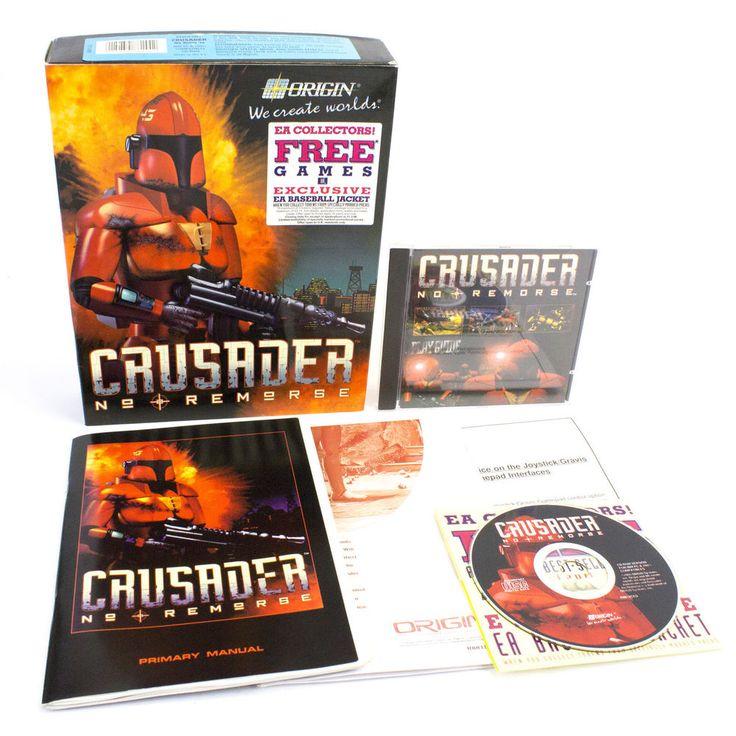 Crusader: No Remorse for PC by ORIGIN in Big Box, 1995, CIB, VGC