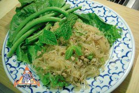 Larb with Glass Noodle & Minced Pork, 'Larb Woonsen Moo Sap' - Larb with Glass Noodle & Minced Pork, 'Larb Woonsen Moo Sap'