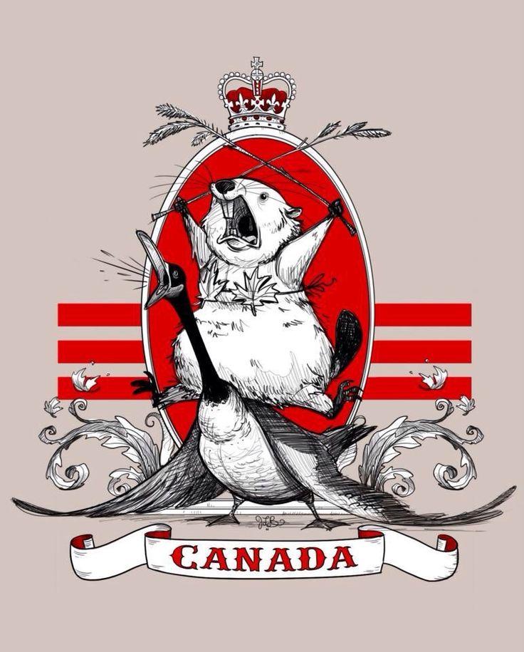 The majestic Canadian beaver riding a goose while wearing a maple leaf bikini. - Imgur
