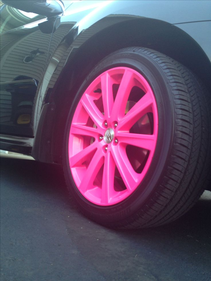 I want hot pink rims like this for my car. Straight up.