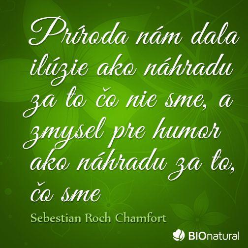 Citát o prírode od Chamforta #citaty #priroda
